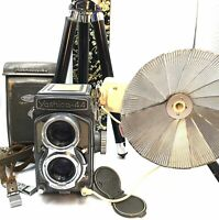 [NEAR MINT in Case] YASHICA 44  TLR CAMERA  with Yashikor F/3.5 60mm  from JAPAN