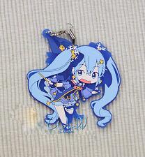 Hot Japan Anime Hatsune Miku Snow Cosplay Rubber Strap Keychain Badge Pendant