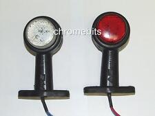 """12/24V 2X 8 LED SIDE RUBBER STALK MARKER LIGHT LAMP OUTLINE TRAILER TRUCK 4.72"""""""