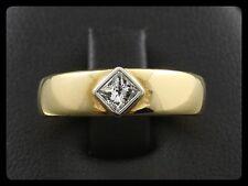 Edler Solitär Diamant Ring 0,27ct TW/VVSI (Gravur) Goldschmiedearbeit 750/- GG