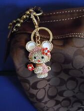 RARE HELLO KITTY / MY MELODY GEMS RHINESTONE ALLOY Purse Charm And Or Key Chain.
