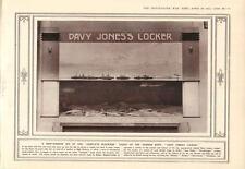 1915 MARINE ALLEMANDE blocus Fiasco coulé navires Davy Jones Locker 10th Mule corps
