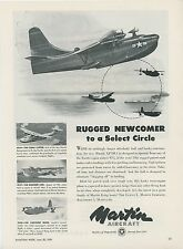 1949 Martin Aircraft Ad XP5M-1 Navy Seaplane Flying Boat China Clipper Vintage