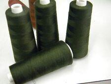 mercerie lot 4 cones fil polyester vert foncé +4500m surjeteuse couture