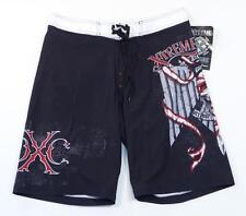 Xtreme Couture Black Tattoo Graphics Stretch Board Shorts Boardshorts Men's NWT