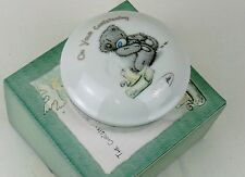 Carte Blanche- Me to You Bear- Christening Collection Trinket Box- Porcelain BN