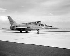 F-107A PARKED ON RAMP F-107 8x10 SILVER HALIDE PHOTO PRINT