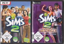 Die Sims 2 Hauptspiel + ADDON Nightlife Sammlung PC Spiele