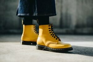 Dr. Martens Classic 1460 Yellow Smooth 8-Eyelet Ankle Boots UK 9.5 / EU 44
