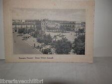 Vecchia cartolina foto d epoca di massara taranto piazza vittorio emanuele 1958