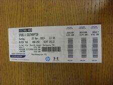 BIGLIETTO 23/03/2014: Tottenham hotpsur V Southampton (leggera piega). grazie per vie