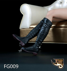 Fire Girl Toys 1/6 Female Long Boots Combat Shoes F Changable Feet Girl Body Toy