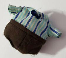 LI'L WOODZEEZ CLOTHES SCAMPERSCOOTS CHIPMUNK FAMILY ADULT FATHER BROWN BLUE SUIT