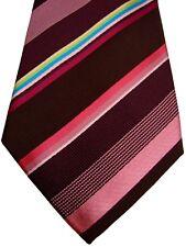 Paul Smith Herren Krawatte Braun Mehrfarbig Streifen NEU