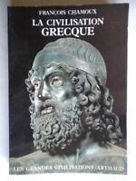 La Civilisation grecque chamoux francois storia grecia francese come nuovo 36