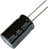 5x CE-2200//35PHT-Y Capacitor electrolytic THT 2200uF 35V Ø16x25mm