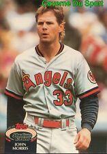 796  JOHN MORRIS  CALIFORNIA ANGELS TOPPS BASEBALL CARD STADIUM CLUB 1992