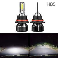 2PCS 9007/HB5 LED Ampoules de phare Kit 6000K Hi/Low Beam Fog Lights Bright