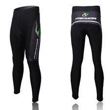 Merida Men's Cycling Long Pants Compression Padded Bike Pants Tights Green Fire