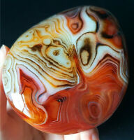 TOP 325.6G Natural Polished Banded Agate Crystal Madagascar Healing WA633