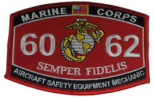 MARINE CORPS 6062 AIRCRAFT SAFETY EQUIPMENT MECHANIC SEMPER FIDELIS MOS PATCH
