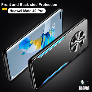 For Huawei Mate 40 Pro+ Luxury Metal Aluminum Hybrid Soft Bumper Slim Cover Case