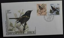 1986 New Zealand Native Birds FDC ties set of 2 stamps canc Wanganui