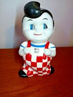 "Bob's Big Boy Vintage Plastic Coin Bank 1970s 7"" Tall"