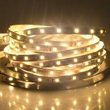 5M 2835SMD 300 LED Flexible Strip Light Ribbon Lamp Lighting Warm White DC/DC12V