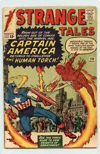 CAPTAIN AMERICA & HUMAN TORCH 1963 VG /FN STRANGE TALES #114 CAP'S 1ST S.A. APP.