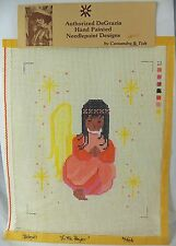 DeGrazia LITTLE PRAYER Hand Painted Needlepoint Canvas Sundance Cassandra & Tish
