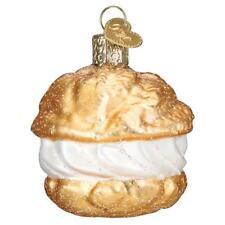 Old World Christmas Cream Puff (32450)N Glass Ornament w/ Owc Box