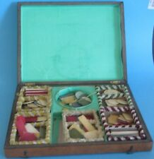 ANCIENNE BOITE A JEUX JETONS NAPOLEON III XIX EME ANTIQUE GAMING GAME BOX