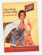 Schlitz Beer - 1950s Metal Bier Sign Reprint - Sexy Party Girl