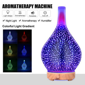 Electric Air Diffuser Aroma Oil Humidifier Night Home Car Relax Firework Defuser