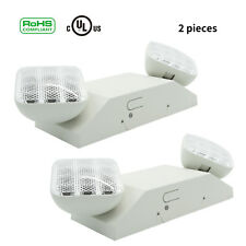 2pcs LED Emergency Exit Light Lamp Lighting Fixture Twin Square Heads Universal