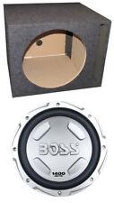 """BOSS AUDIO Chaos CX122 12"""" 1400 Watt Car Power Subwoofer Woofer + Vented Sub Box"""