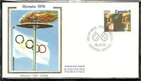 Canada SC # 681 1976 Olympic Games Ceremonies .Colorano Silk  Cachet.