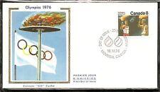 Canada Sc # 681 1976 Olympic Games Ceremonies .Colorano Silk Cachet.