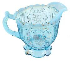 ANTIQUE EAPG NORTHWOOD EVERGLADES CARNELIAN BLUE OPALESCENT GLASS CREAMER 1903
