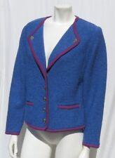 GEIGER Austria Blue Purple Wool Cardigan Sweater Knit Jacket Top 40 8 10 M EUC