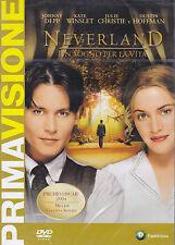 Dvd **NEVERLAND ♥ UN SOGNO PER LA VITA** con Johnny Depp Kate Winslet nuovo 2004