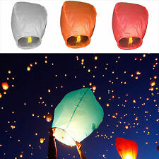 Chinese Paper Lucky Sky Lanterns Fly Candle Lamp Light For Wish Wedding Activity