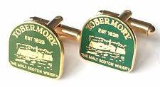 Tobermory Malt Scotch Whisky Enamel Crested Cufflinks (N96) Gift Boxed
