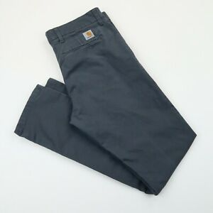 "Carhartt Mens SID pant trousers chinos Grey SZ 33""W 32""L (E4439)"