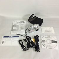 Olympus FE-310 8.0 MP Digital Camera Bundle Cords Instructions Software Tested