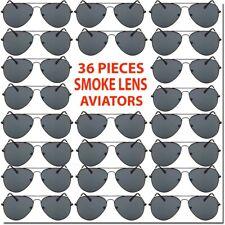 Wholesale Aviator Sunglasses Smoke Lens 36 Piece Set Bulk Lot All New Deal