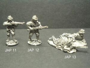 Metal WWII Japanese Infantry Troops - 3 Variations 1/76 - 20mm Scale