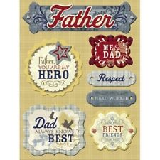 DAD FATHER Daddy Hero Knows best Hard worker Respect Friend K&Company Stickers