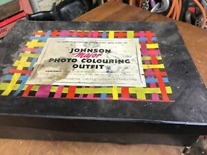 vintage johnson major photo colouring outfit in box